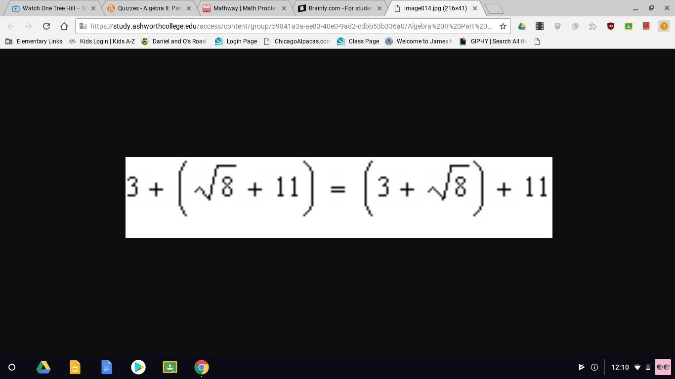 Name The Property Of Real Numbers Illustrated By The Equation