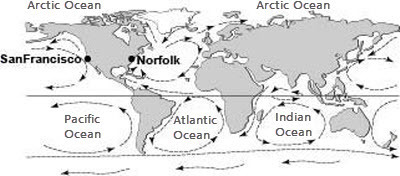 Norfolk California Map.Please Help Study The Following Ocean Currents Map Which