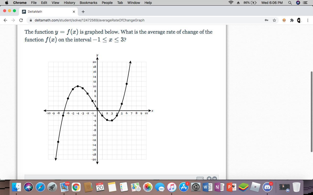 The Function Y = F (x) Is Graphed Below. What Is The