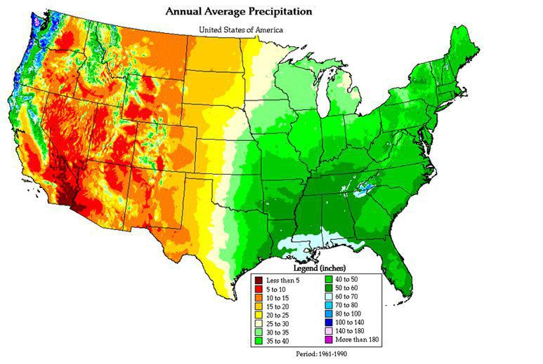 Based On The Map Which Region Of The United States Has The Wettest - Map-southwest-region-us