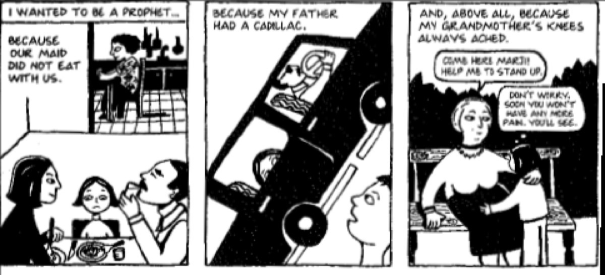 Read The Excerpt From Persepolis What Is The Central Idea Of These Panels Image Above Brainly Com