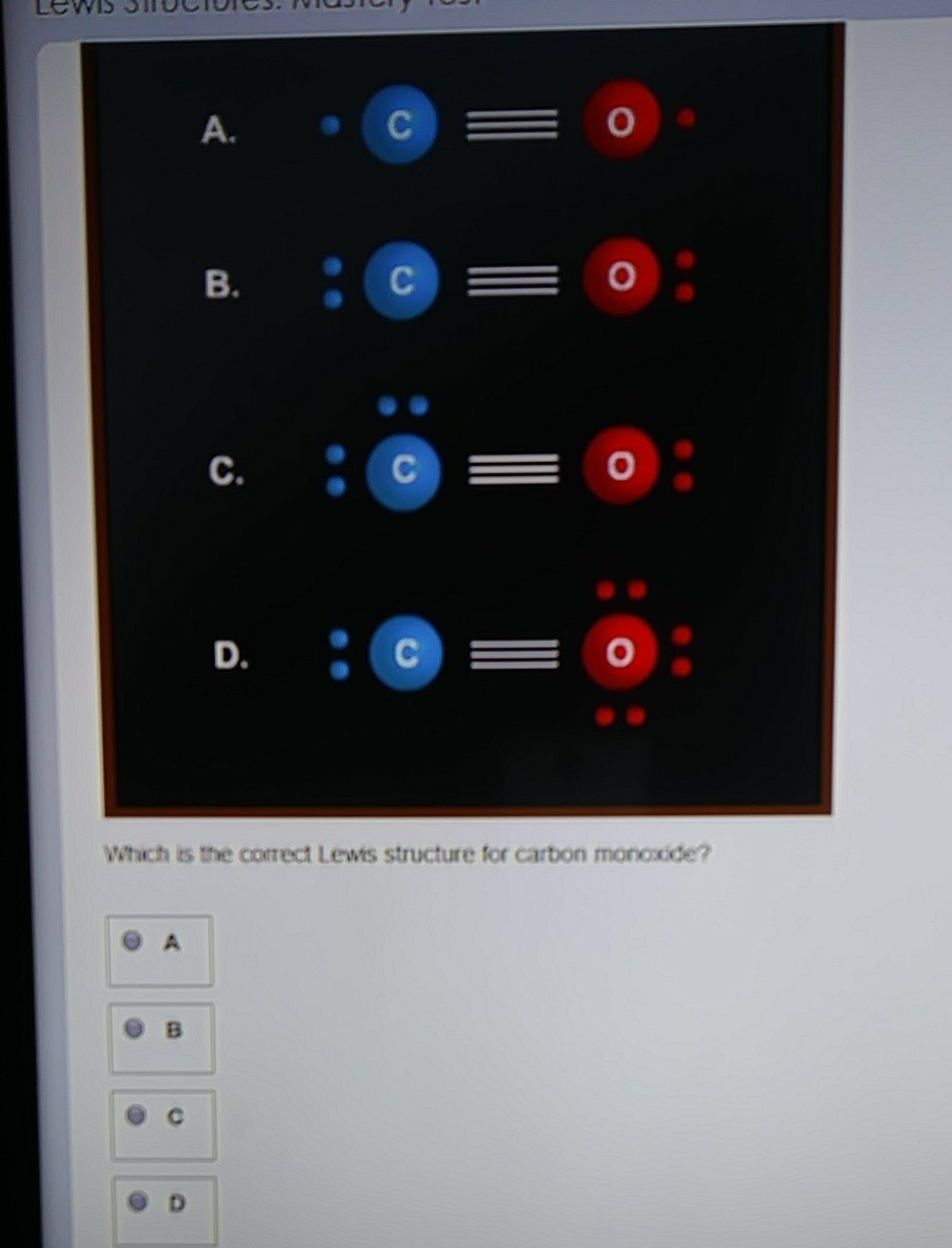 What Is The Correct Lewis Structure For Carbon Monoxide