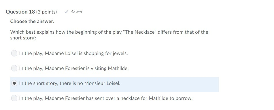 what is mathilde like at the beginning of the necklace