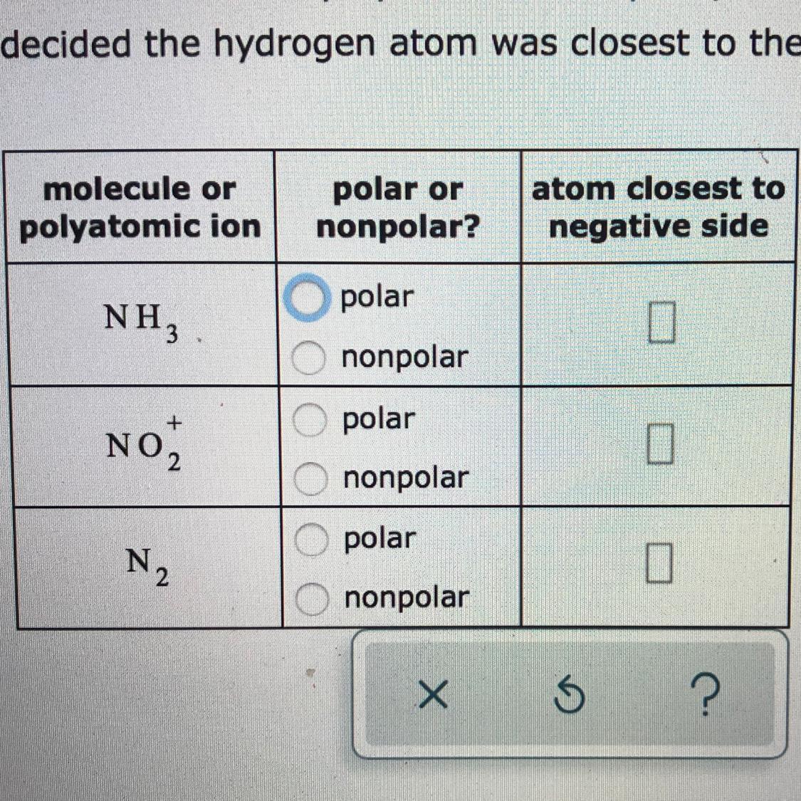 Determining Wether The Molecule Is Polar Or Non Polar Brainly Com