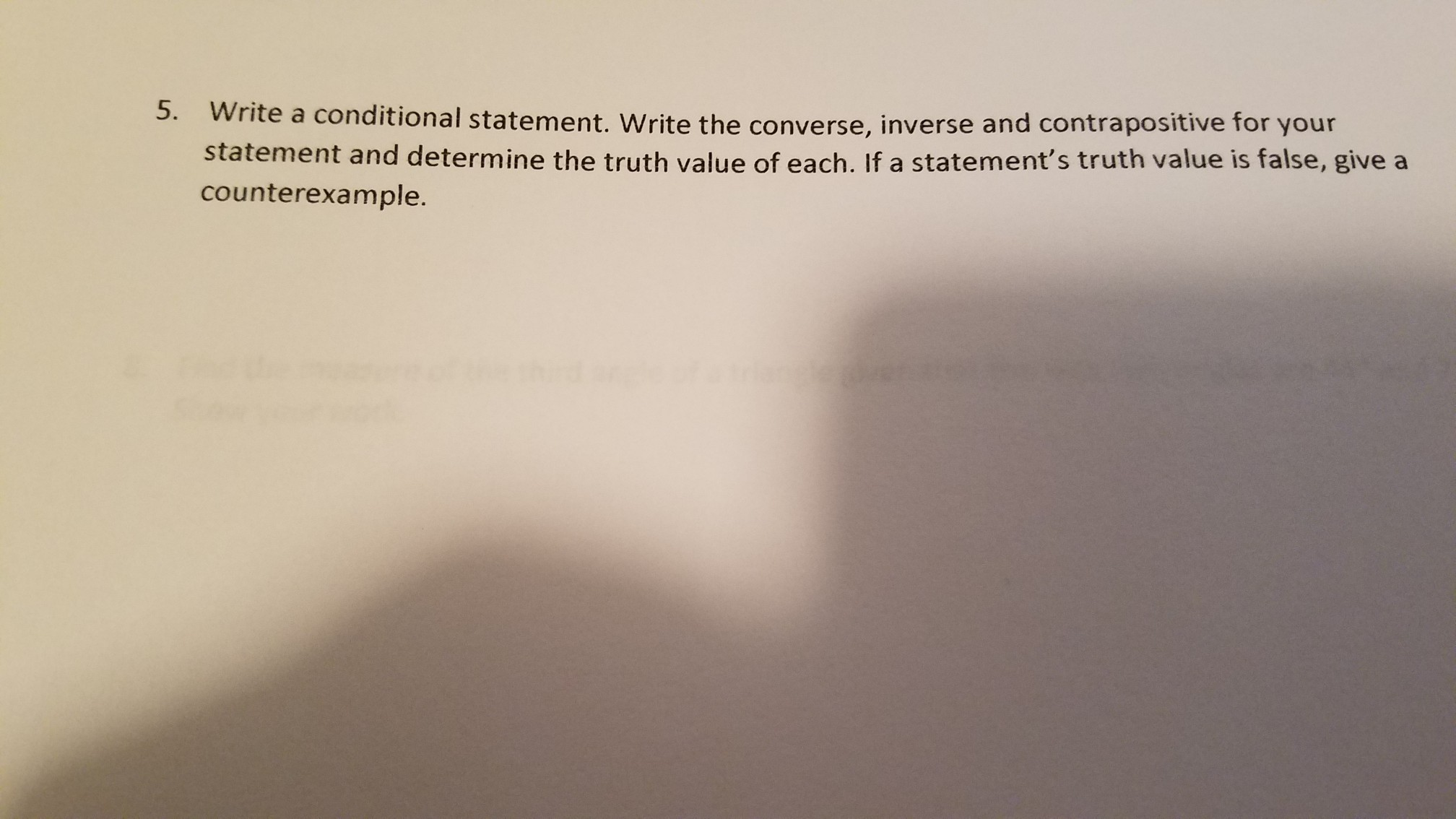 Write A Conditional Statement Write The Converse Inverse And