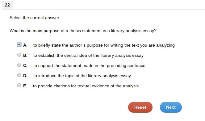 What Is The Main Purpose Of A Thesis Statement In A Literary Analysis  Download Png