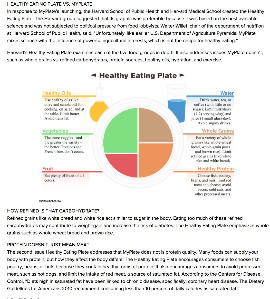 Which infographic do you find easier to read? The Healthy