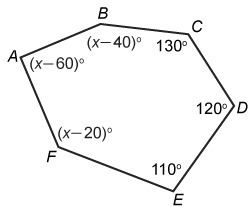 The Interior Angles Formed By The Sides Of A Hexagon Have Measures That Sum To 720 What Is The