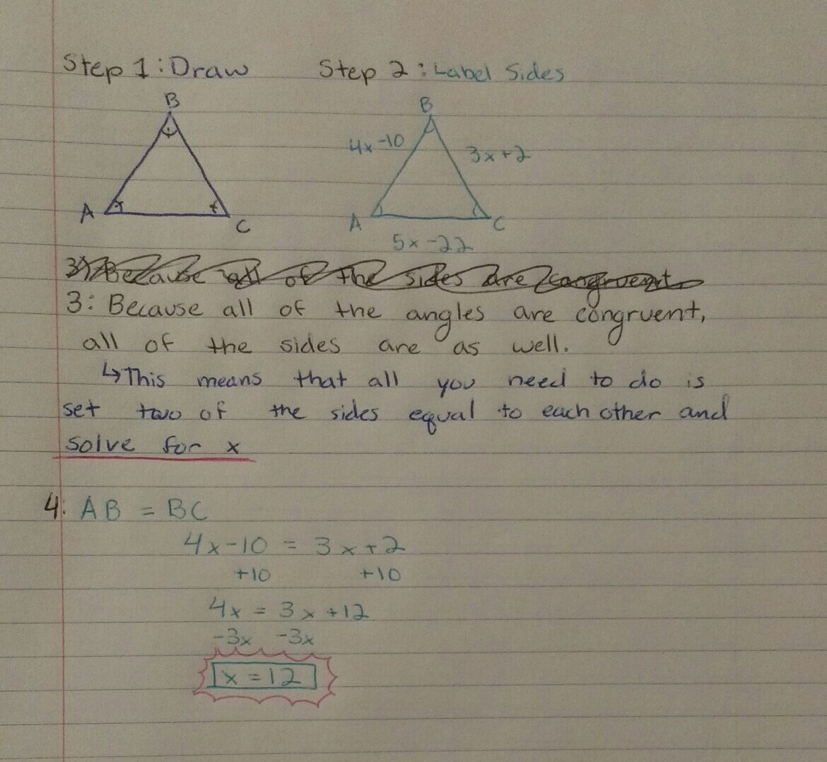 What Is The Value Of X Enter Your Answer In The Box X Equiangular
