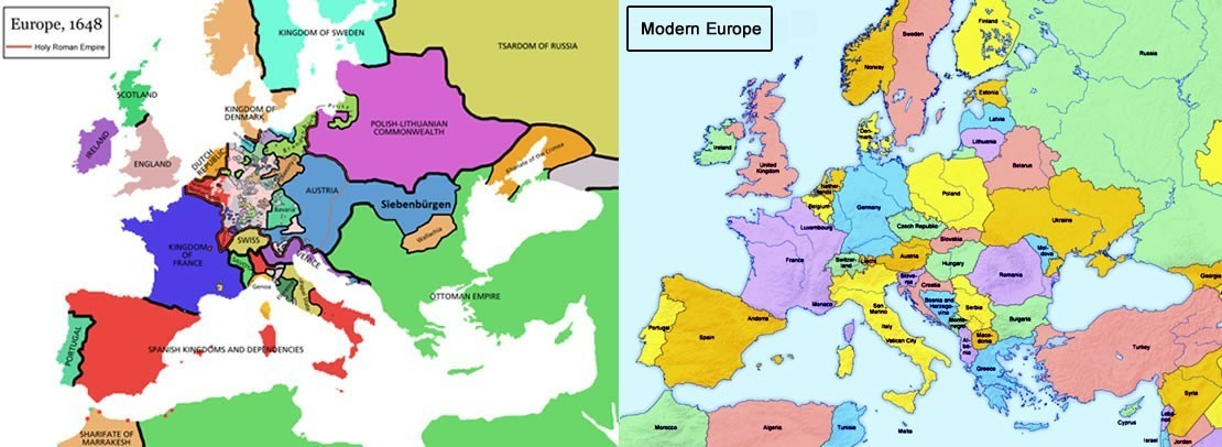 How Does The Map Of Modern Europe Differ From The Map Of Europe In ...