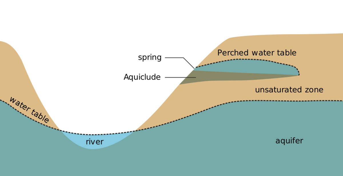 The water table is the for Soil zone definition