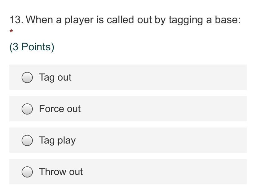 When a player is called out by tagging a base - Brainly.com
