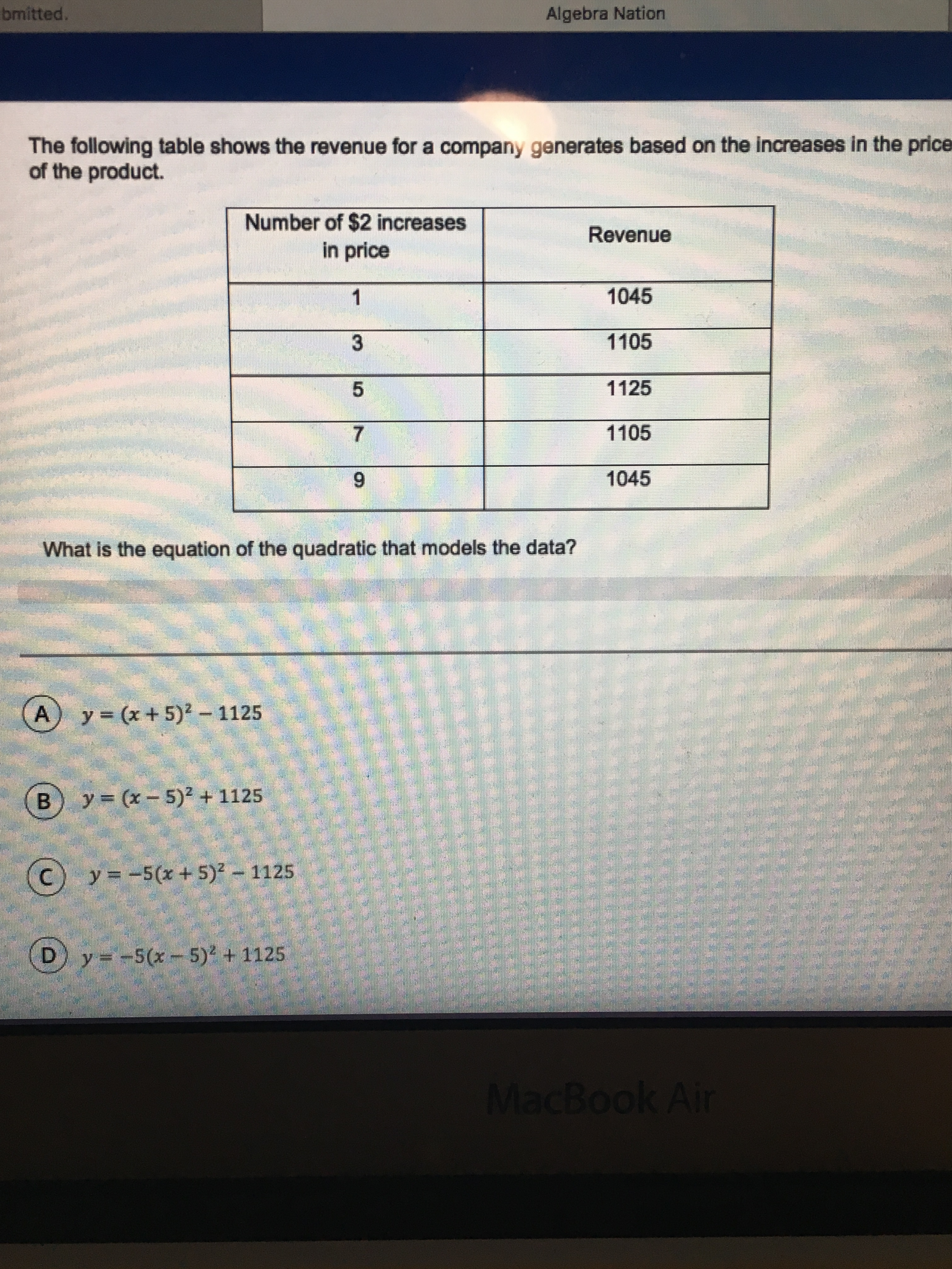 Help Please! Math Nation Section 6 Test Yourself Practice