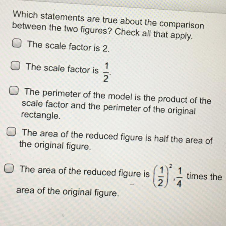 Which statements are true about the comparison between the ...
