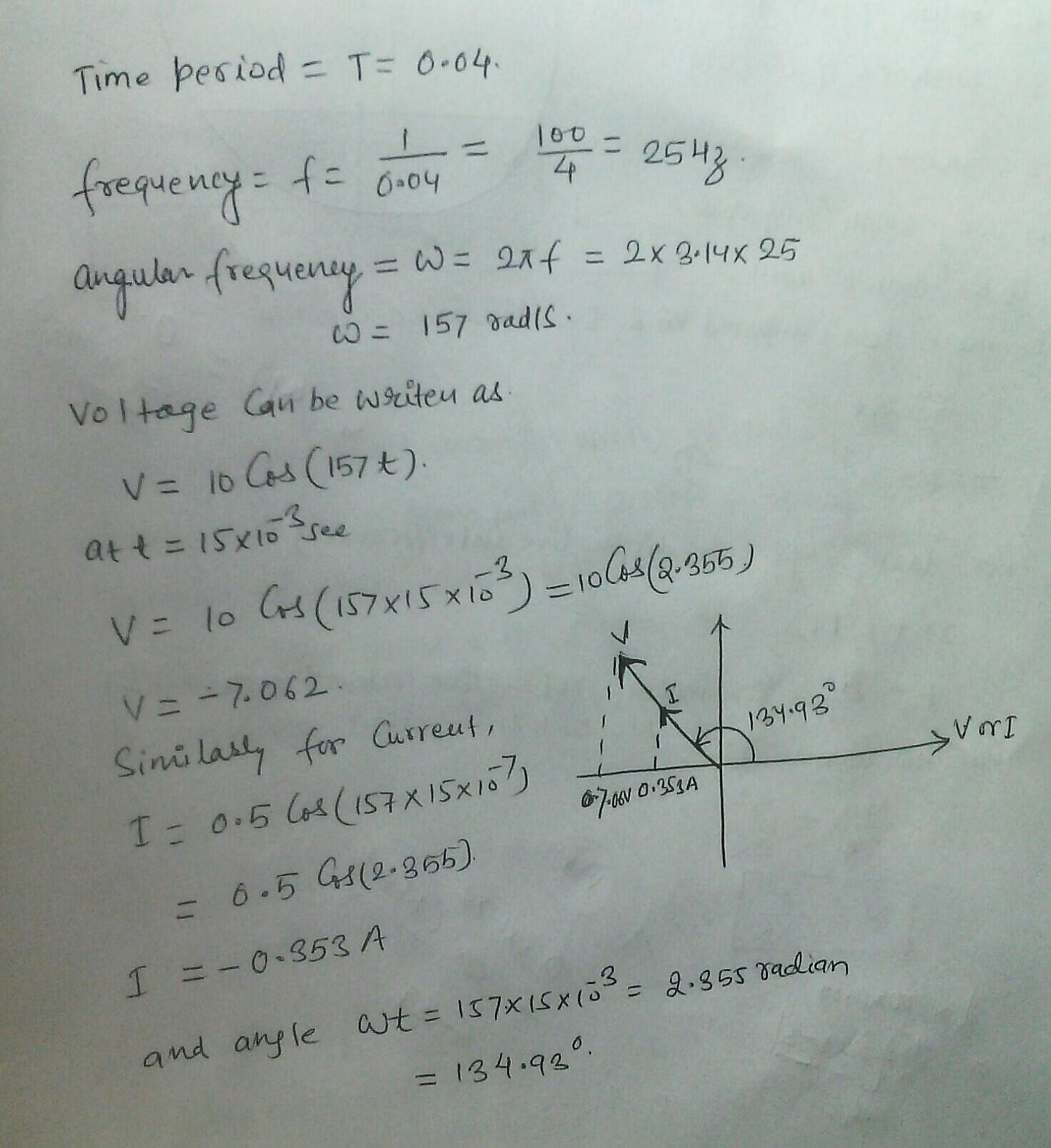 Representation of AC Current and Voltage by Rotating...