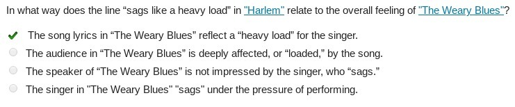 """In what way does the line """"sags like a heavy load"""" in """"Harlem"""