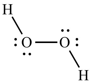 Construct a lewis structure for hydrogen peroxide, h2o2, in