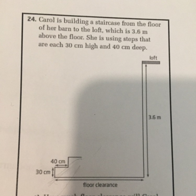 how much floor will Carol need in order