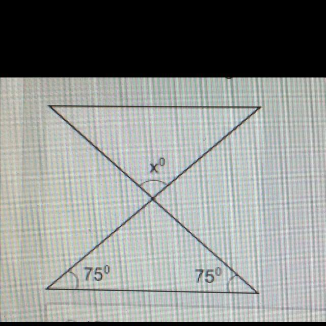 Find the measure of angle x in the figure below 15 25 30 ...