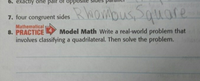 write and solve a real world problem