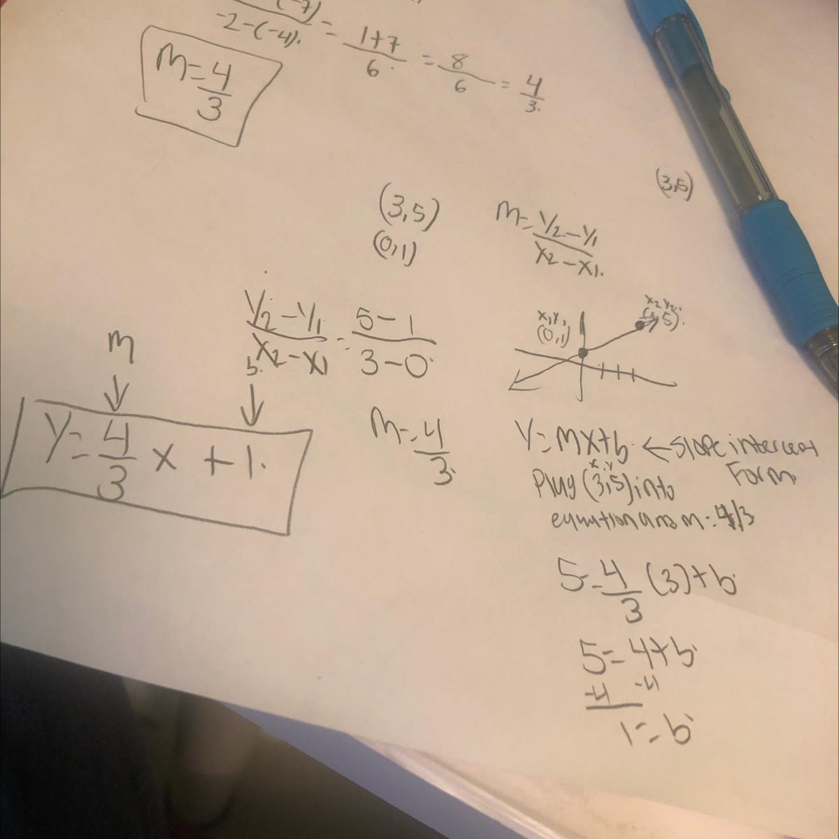 📈write an equation in slopeintercept form 35 01