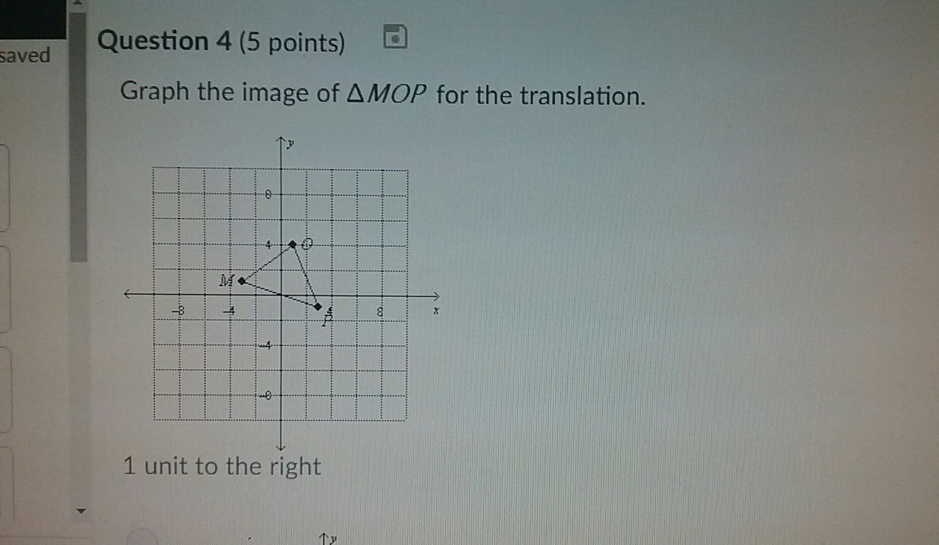 Graph The Image Mop For The Translation Brainly Com