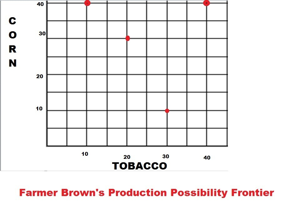1 Farmer Brown Has Four Fields That Can Produce Corn Or