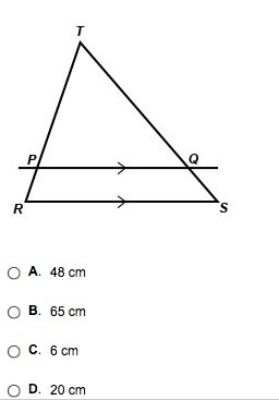 In The Figure Pq Is Parallel To Rs The Length Of Rp Is 7 Cm The Length Of Pt Is 35 Cm The Inly Com