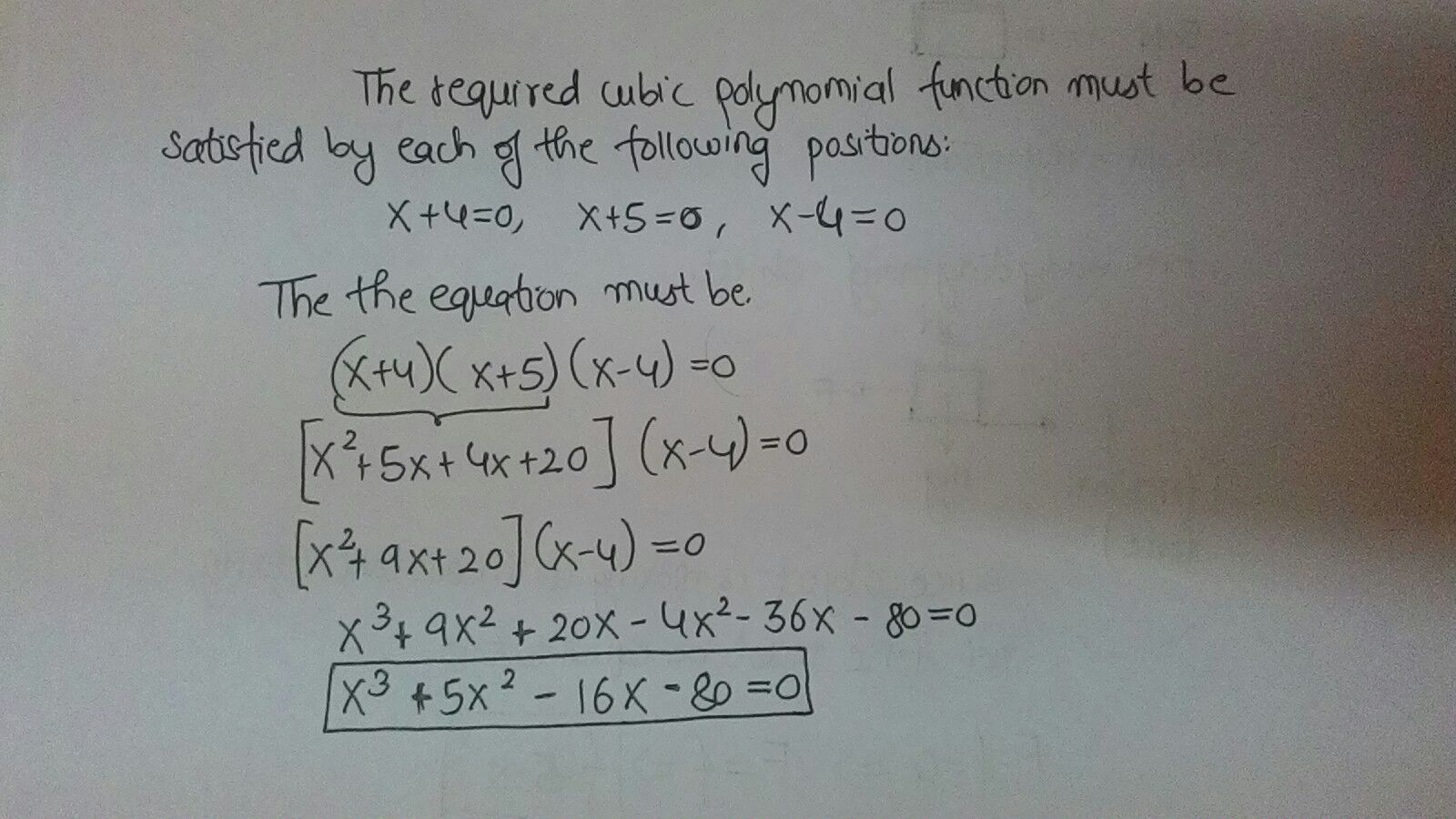 how to write a polynomial function in standard form