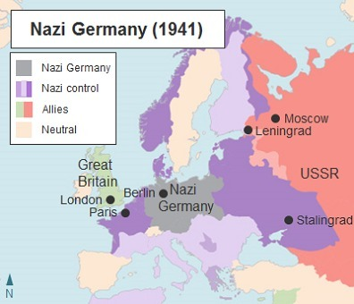 The Map Shows Territory Captured By Nazi Germany In 1941 Hitler Was