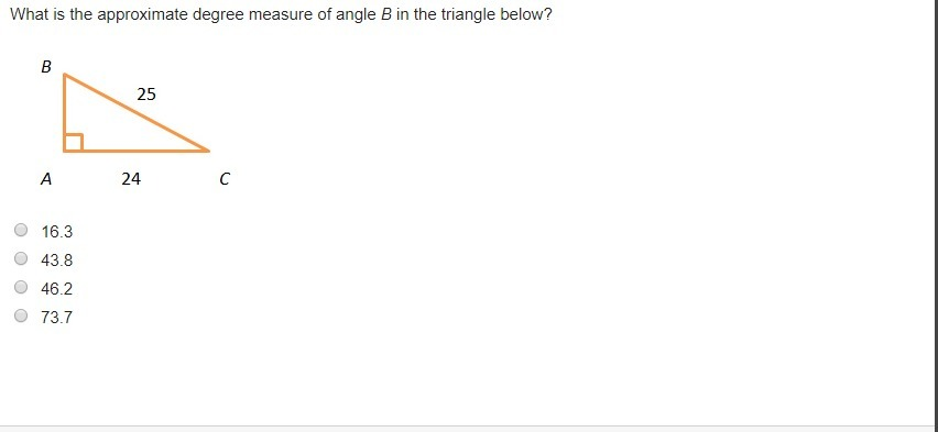 TIMED PLEASE HELP What Is The Approximate Degree Measure