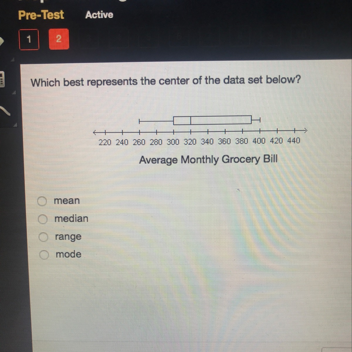Which best represents the center of the data set below ...