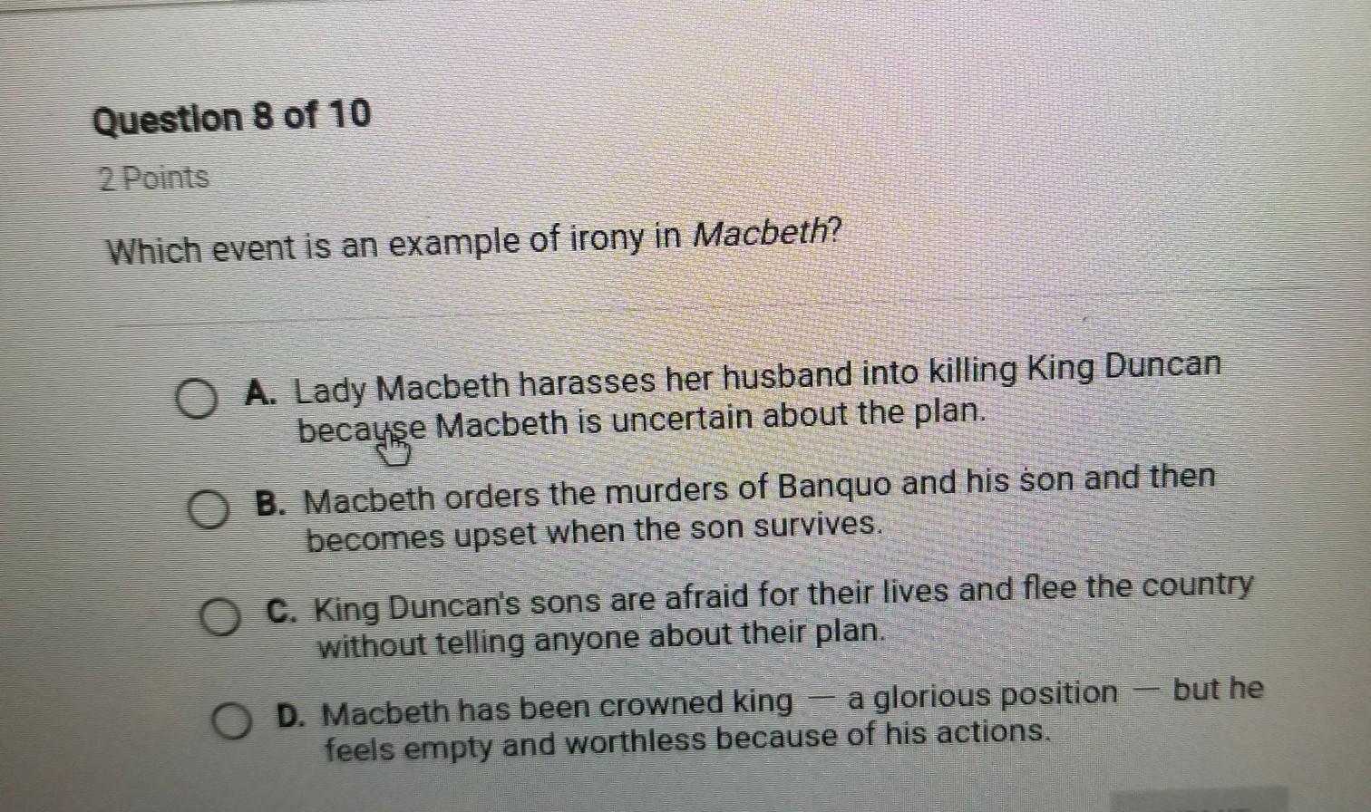 irony in macbeth
