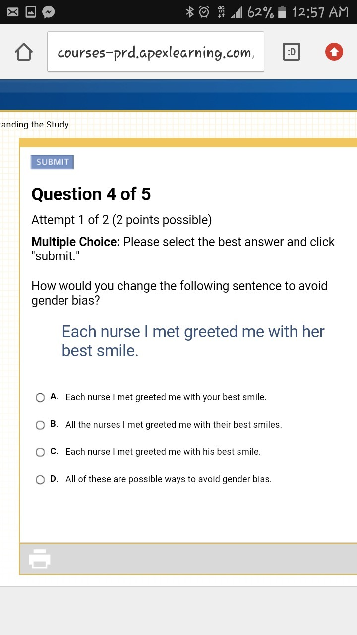 How would you change the following sentence to avoid gender bias download jpg m4hsunfo