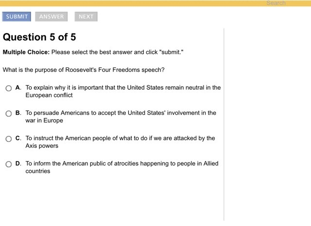 What Is The Purpose Of RooseveltS Four Freedoms Speech  BrainlyCom