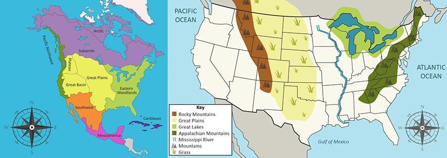 Compare The Two Maps Which Geographical Feature Formed The Western Boundary Of The Plains Native Brainly Com