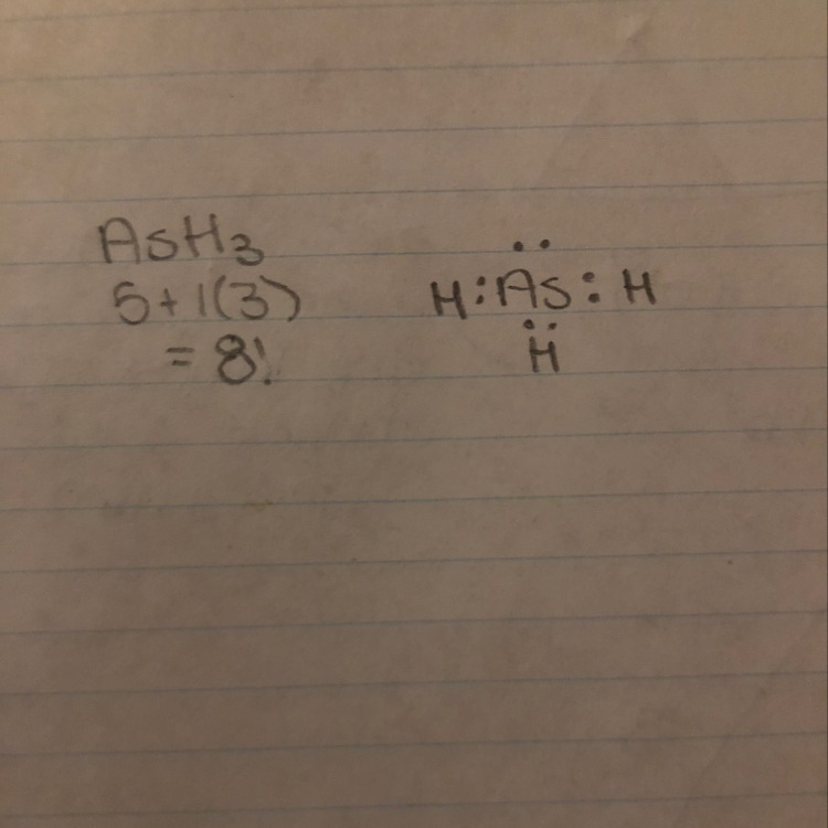 the lewis structure of ash3 shows ______ nonbonding electron pair(s  download png
