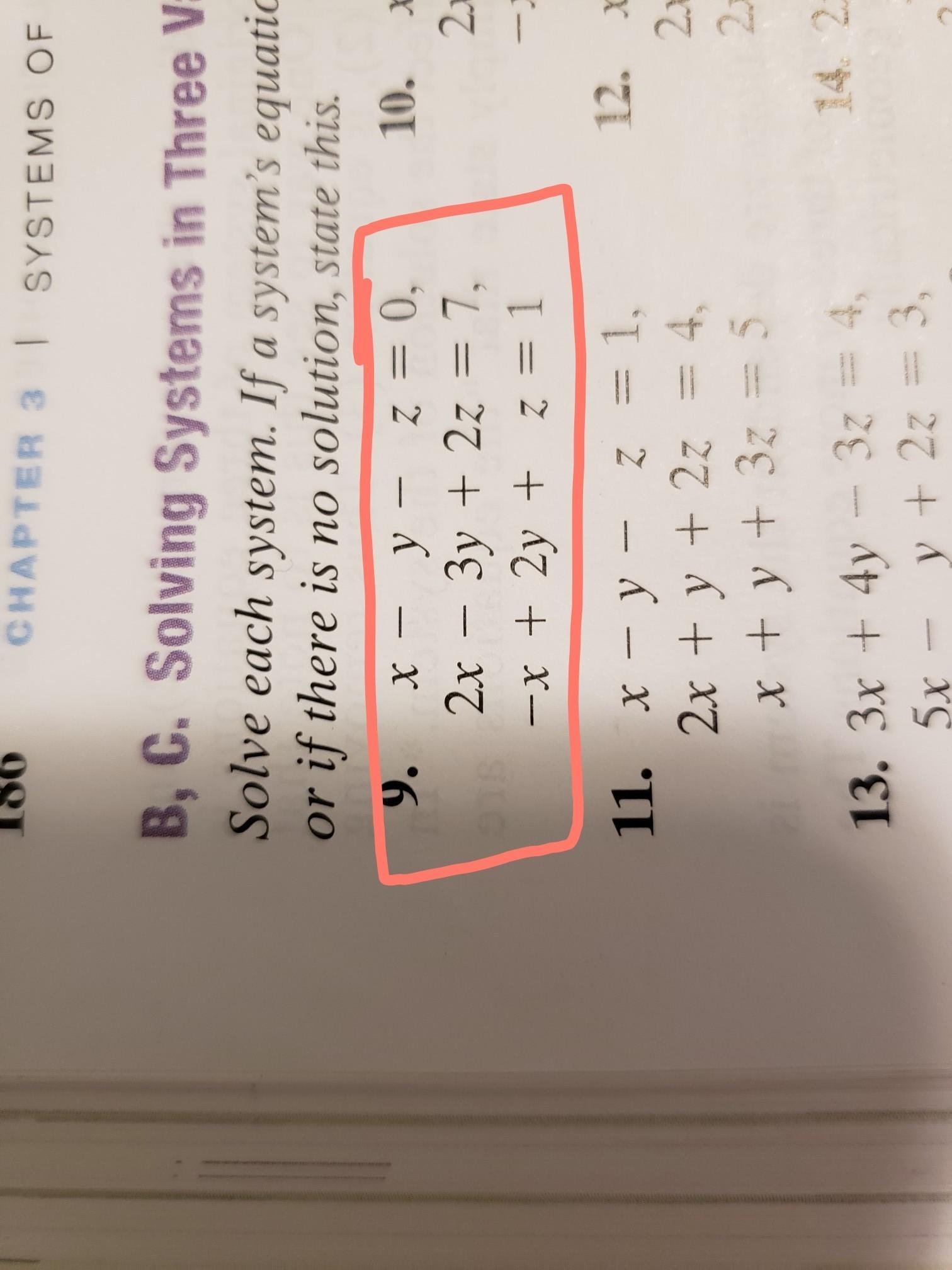 3x4y 3z45x Y2z3x2y Z 2 Solving Systems In Three Variables