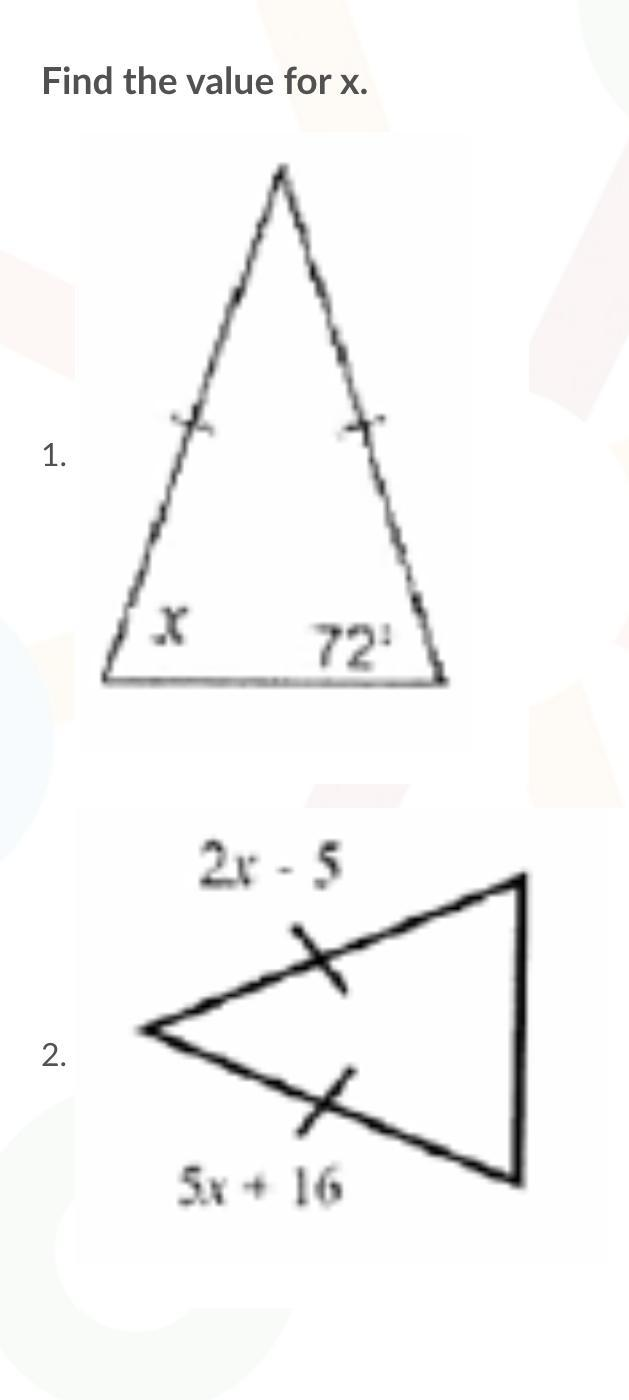 📈PLEASE ANSWER THIS FAST-Find The Value For X. - Brainly.com