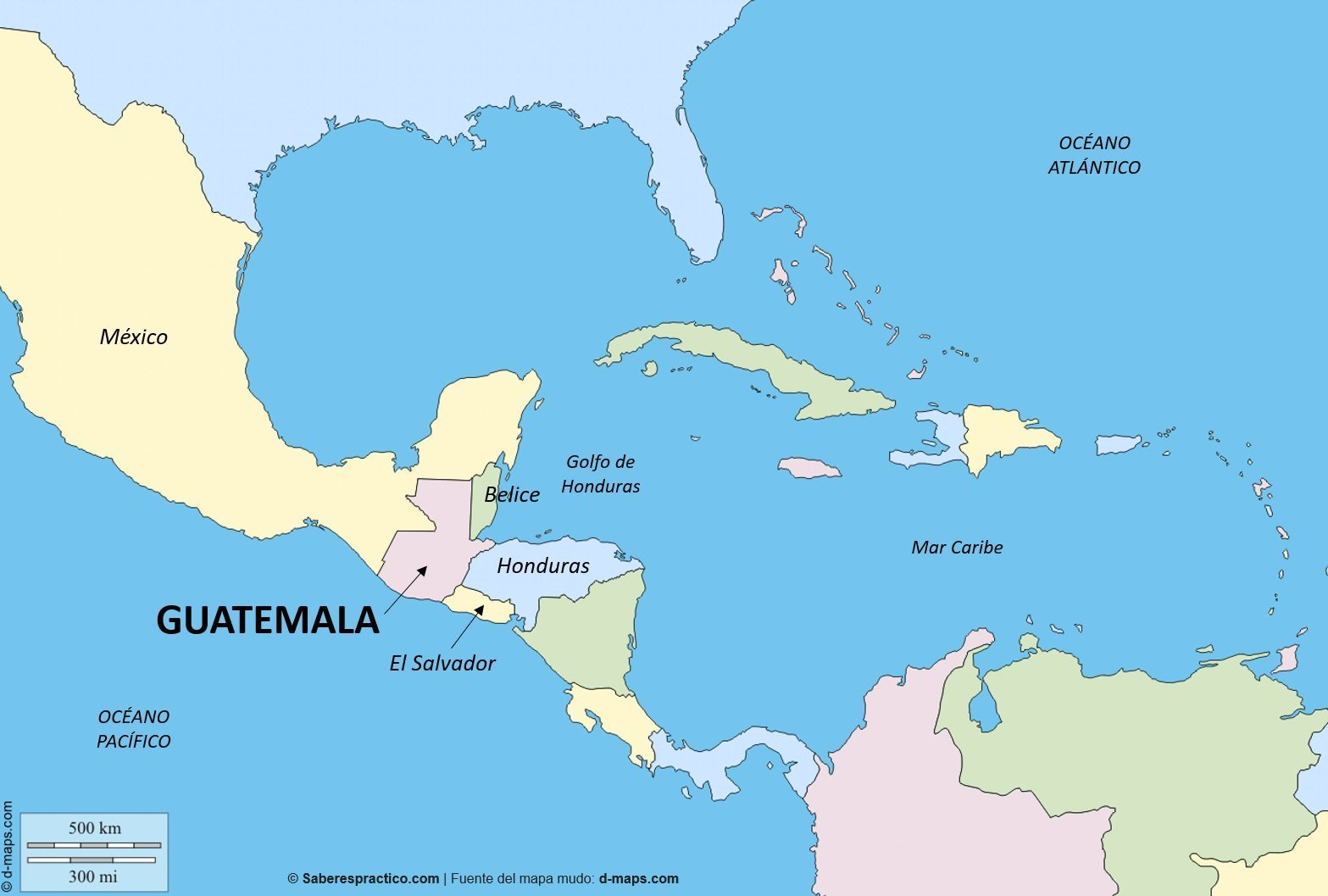 What Country Is Northern Border Guatemala S Southern