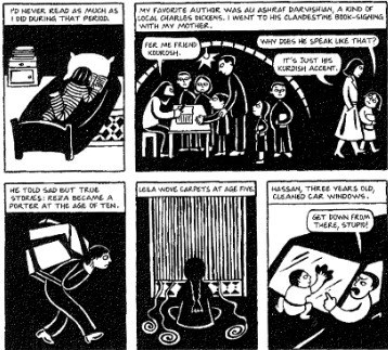 Read The Excerpt From Persepolis How Does The Middle Row Of Panels Help Develop The Central Idea Of Brainly Com