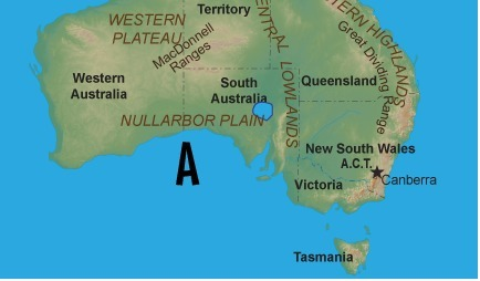 Australia Map Labeled.Which Geographical Feature Is Labeled A On The Map Below A Bass
