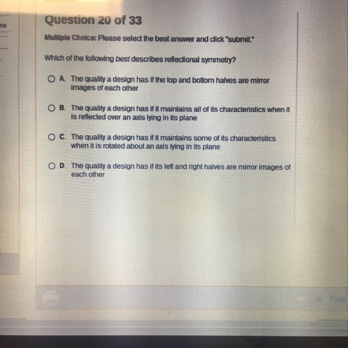 Which Of The Following Best Describes Reflections Symmetry Brainly Com