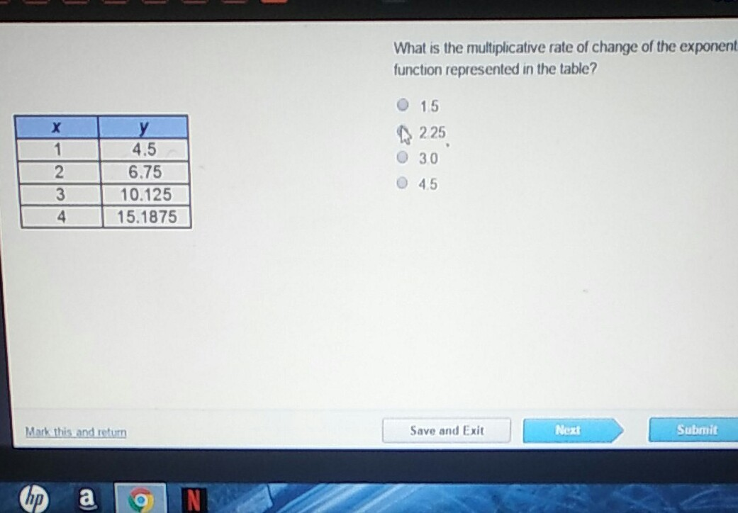 What Is The Multiplicative Rate Of Change Of The