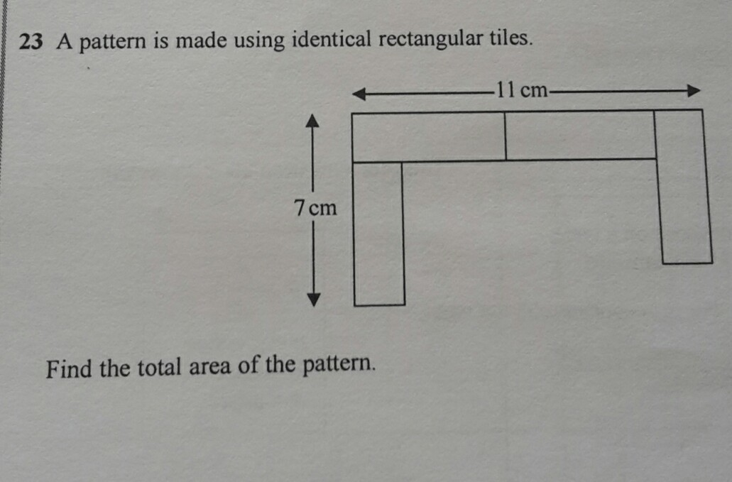 A Pattern Is Made Using Identical Rectangular Tiles Find The Total