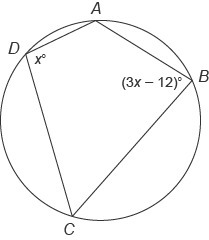1. Quadrilateral ABCD is inscribed in this circle. What is ...