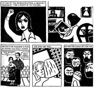 Read The Excerpt From Persepolis What Is The Central Idea Of These Panels A Satrapi S Mother Brainly Com