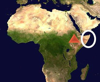 Please Help On The Map Above The Triangle Shows The Location Of The