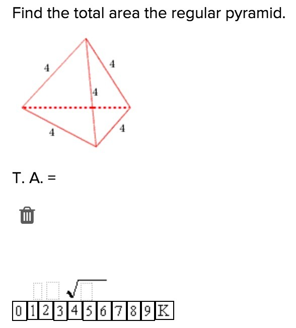 20 Points Find The Total Surface Area Of The Regular