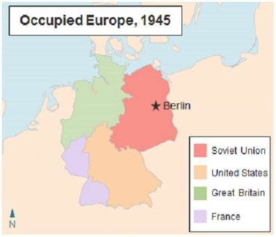 Map Of Germany Occupation Zones.The Map Below Shows Germany After World War Ii Which Statements